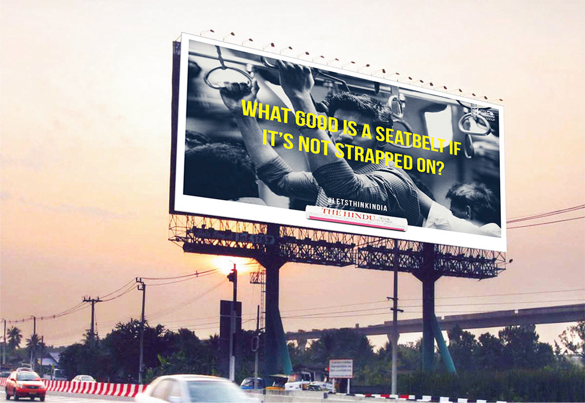 #LetsThinkIndia Campaign Banner - The Hindu